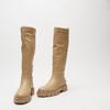 combat boots à semelles track bata, Jaune, 591-8564 - 26