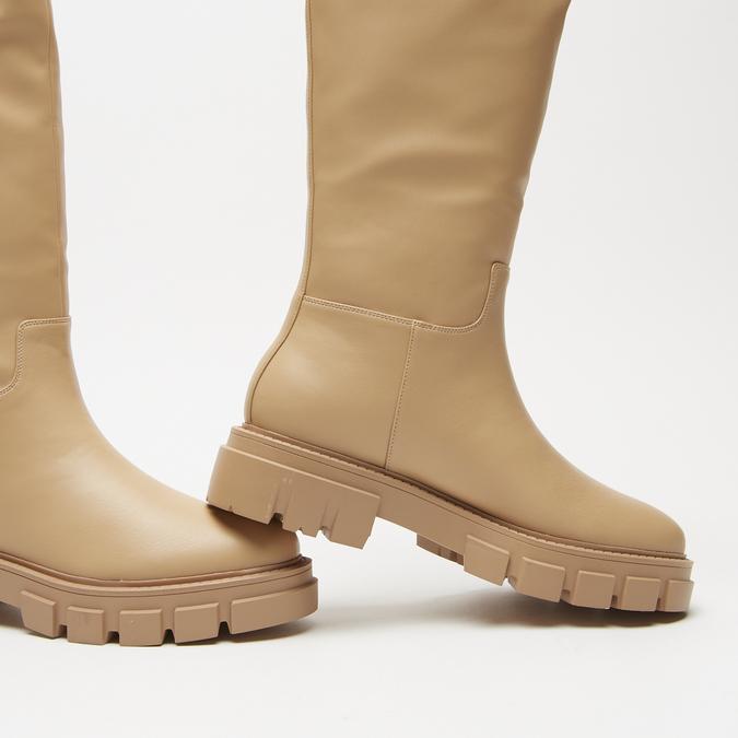 combat boots à semelles track bata, Jaune, 591-8564 - 16