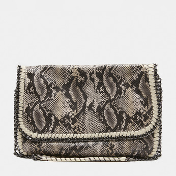 sac à bandoulière en tissu à motif animalier bata, Beige, 969-8112 - 13